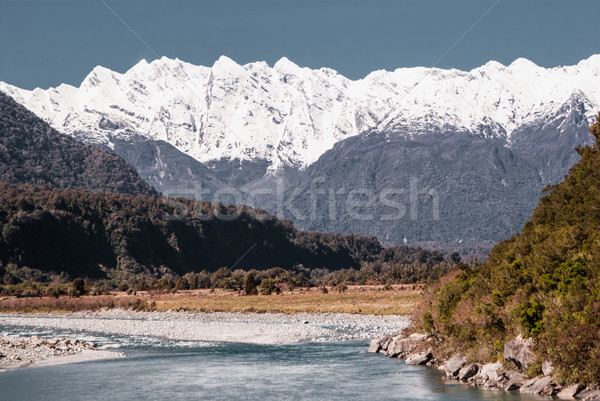 Alpine scenery around mount Cook. Hiking in New Zealand Stock photo © MikhailMishchenko