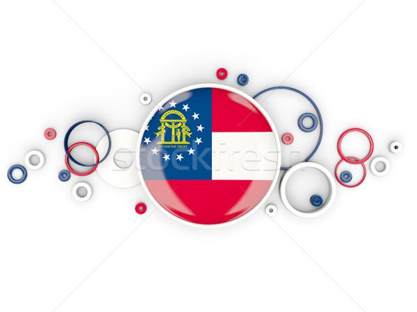 Zászló Grúzia körök minta Egyesült Államok helyi Stock fotó © MikhailMishchenko