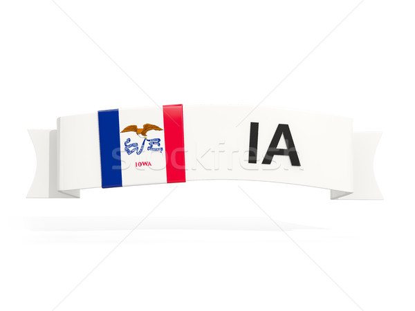 iowa state flag on banner with postal abbreviation isolated on w Stock photo © MikhailMishchenko