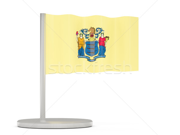 Flag pin with flag of new jersey. United states local flags Stock photo © MikhailMishchenko