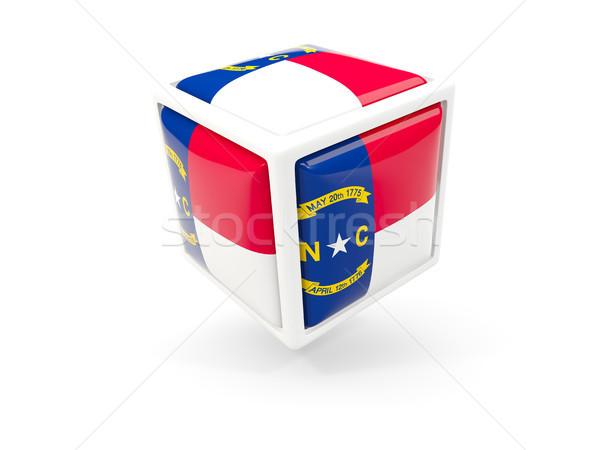 Carolina del Nord bandiera cubo icona Stati Uniti locale Foto d'archivio © MikhailMishchenko