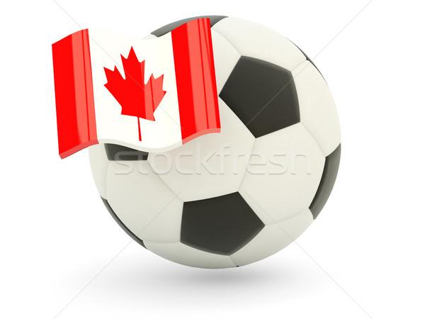 Football with flag of canada Stock photo © MikhailMishchenko