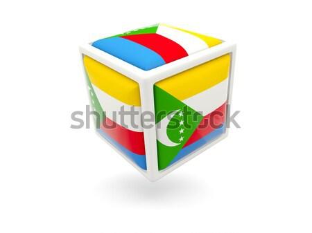 Bandiera Benin cubo icona isolato bianco Foto d'archivio © MikhailMishchenko