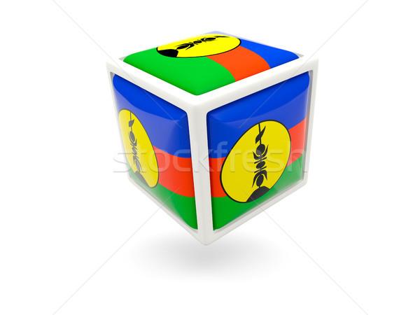 Flag of new caledonia. Cube icon Stock photo © MikhailMishchenko