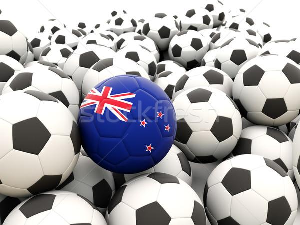 футбола флаг Новая Зеландия регулярный лет Сток-фото © MikhailMishchenko