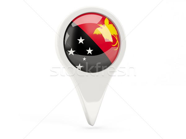 Zászló ikon Pápua Új-Guinea izolált fehér térkép Stock fotó © MikhailMishchenko