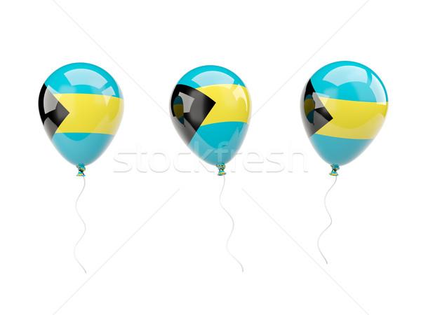 Ar balões bandeira Bahamas isolado branco Foto stock © MikhailMishchenko