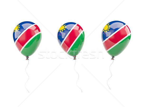 Air balloons with flag of namibia Stock photo © MikhailMishchenko