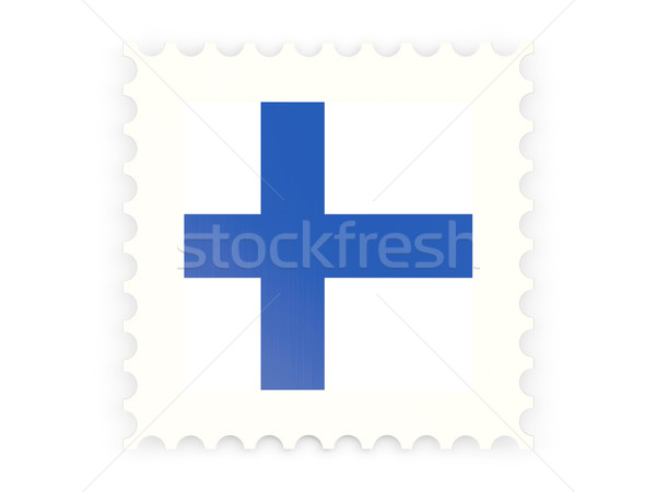 ícone Finlândia isolado branco e-mail Foto stock © MikhailMishchenko