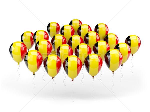 Ballonnen vlag België geïsoleerd witte land Stockfoto © MikhailMishchenko
