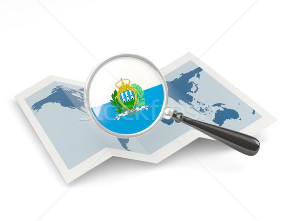 флаг Сан-Марино карта белый Сток-фото © MikhailMishchenko