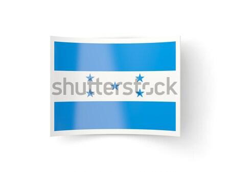 квадратный икона флаг Гондурас металл кадр Сток-фото © MikhailMishchenko