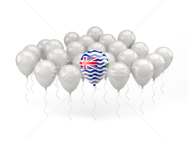 Air balloons with flag of british indian ocean territory Stock photo © MikhailMishchenko