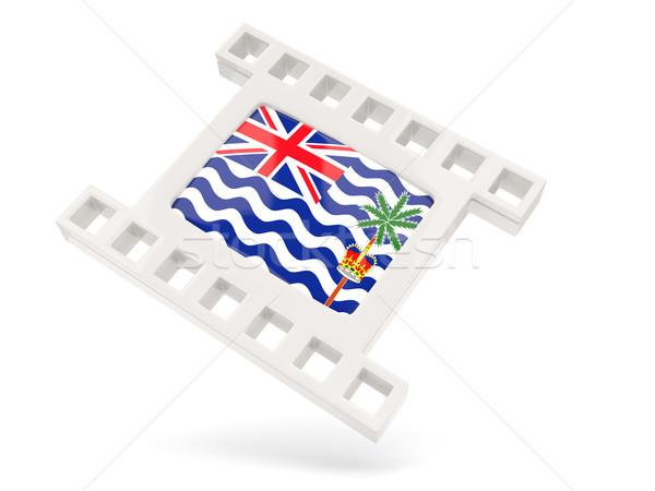 Movie icon with flag of british indian ocean territory Stock photo © MikhailMishchenko