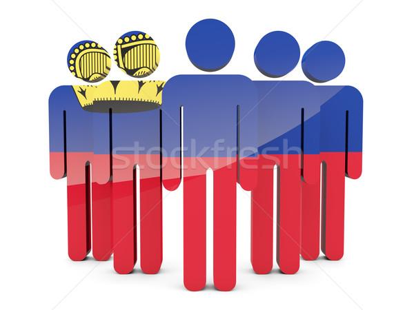 People with flag of liechtenstein Stock photo © MikhailMishchenko