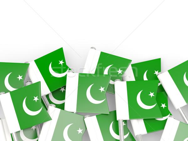 Flag pin of pakistan Stock photo © MikhailMishchenko