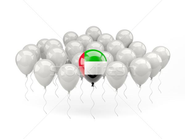 Ar balões bandeira Emirados Árabes Unidos isolado branco Foto stock © MikhailMishchenko