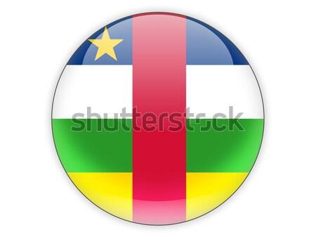 Icona bandiera centrale african repubblica isolato Foto d'archivio © MikhailMishchenko