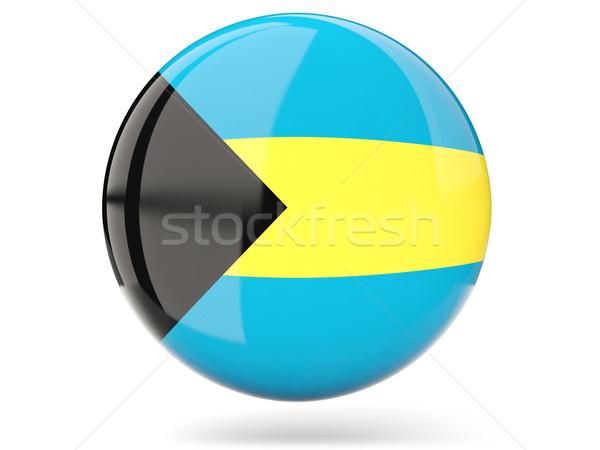 ícone bandeira Bahamas assinar branco Foto stock © MikhailMishchenko