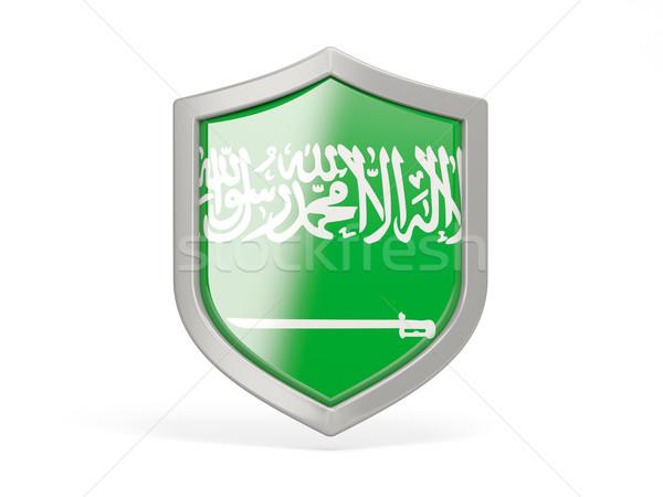 Shield icon with flag of saudi arabia Stock photo © MikhailMishchenko