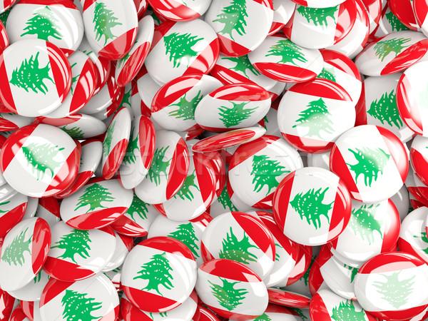 флаг Ливан фон стране Pin круга Сток-фото © MikhailMishchenko
