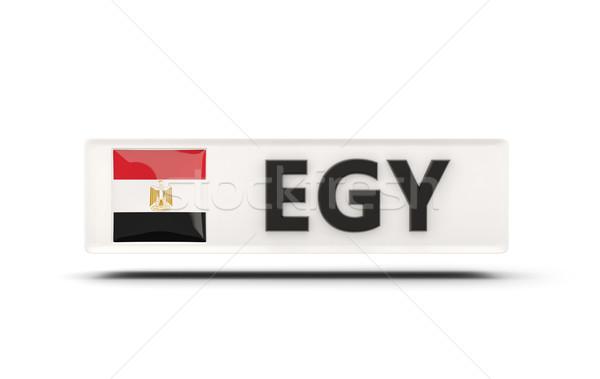 квадратный икона флаг Египет iso Код Сток-фото © MikhailMishchenko