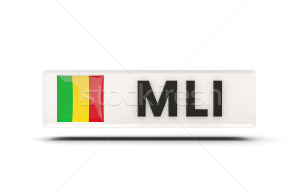 Square icon with flag of mali Stock photo © MikhailMishchenko