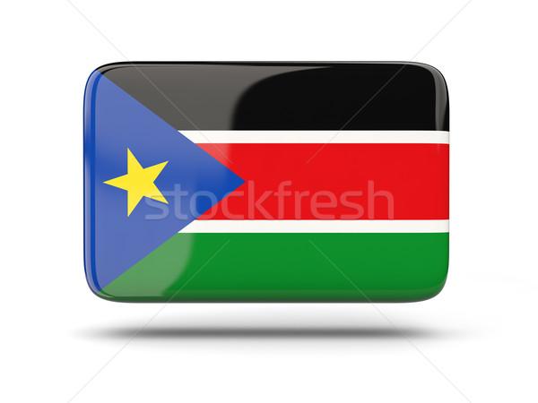 Vierkante icon vlag zuiden Soedan schaduw Stockfoto © MikhailMishchenko
