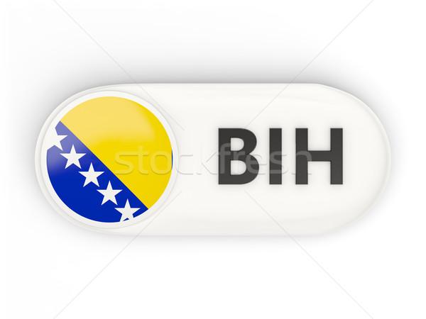 Round icon with flag of bosnia and herzegovina Stock photo © MikhailMishchenko