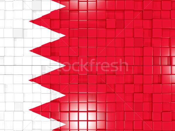 Kare bayrak Bahreyn 3d illustration mozaik Stok fotoğraf © MikhailMishchenko