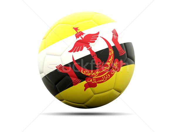 Voetbal vlag Brunei 3d illustration voetbal sport Stockfoto © MikhailMishchenko