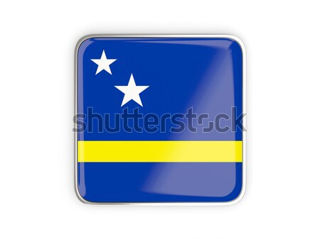 Square icon with flag of curacao square. 3D illustration Stock photo © MikhailMishchenko