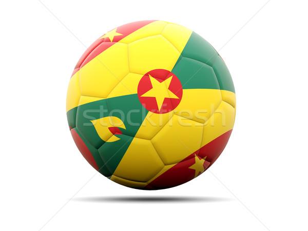 Futball zászló Grenada 3d illusztráció futball sport Stock fotó © MikhailMishchenko