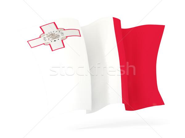 Vlag Malta 3d illustration geïsoleerd witte Stockfoto © MikhailMishchenko