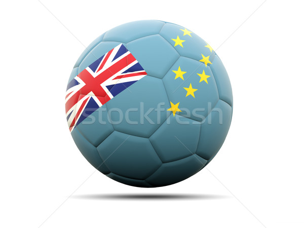 Football with flag of tuvalu Stock photo © MikhailMishchenko
