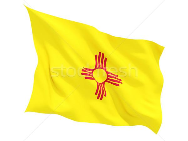 Flag of new mexico, US state fluttering flag Stock photo © MikhailMishchenko