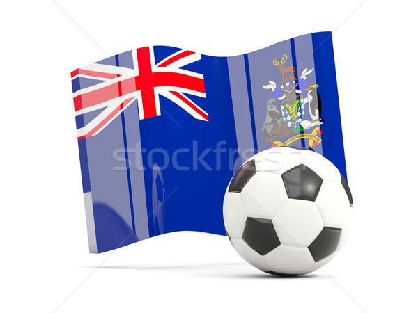 Voetbal vlag zuiden sandwich eilanden Stockfoto © MikhailMishchenko