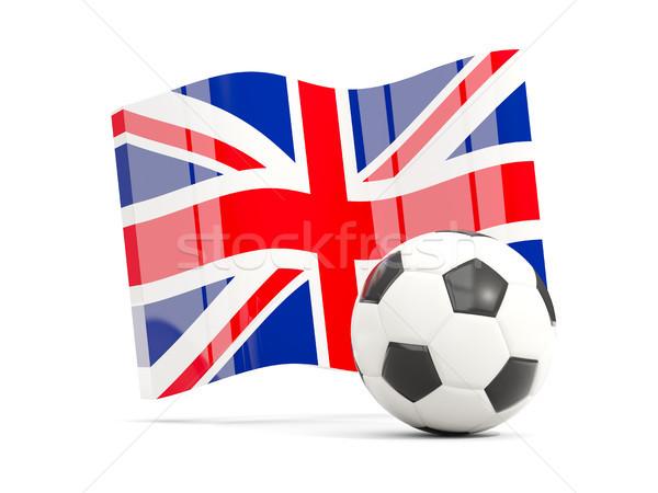 Stockfoto: Voetbal · vlag · koninkrijk · geïsoleerd · witte