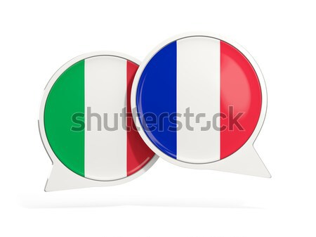 Chat bubbles of Russia and Italy isolated on white Stock photo © MikhailMishchenko