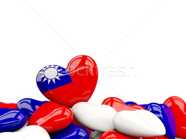 Heart with flag of taiwan Stock photo © MikhailMishchenko