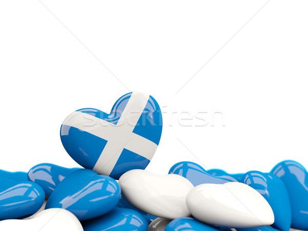 сердце флаг Шотландии Top сердцах изолированный Сток-фото © MikhailMishchenko