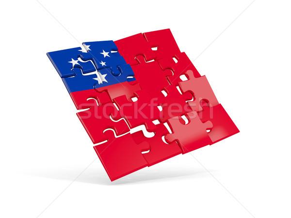 Quebra-cabeça bandeira Samoa isolado branco ilustração 3d Foto stock © MikhailMishchenko