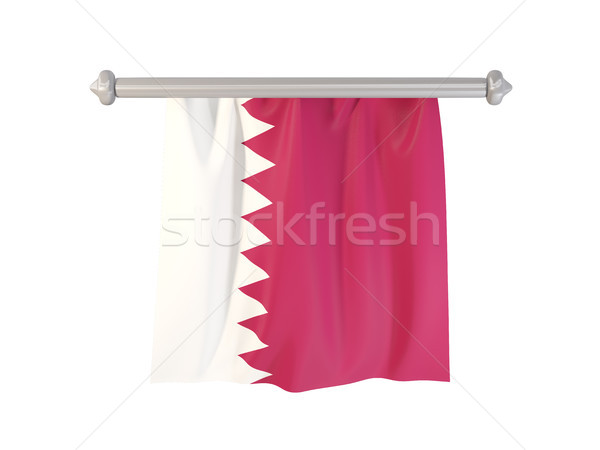 Pennant with flag of qatar Stock photo © MikhailMishchenko