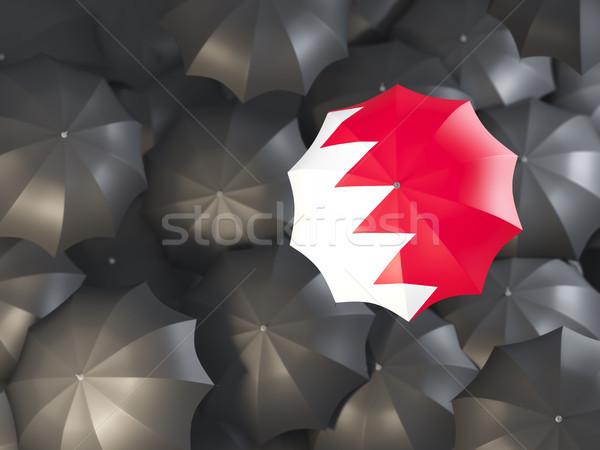 Guarda-chuva bandeira Bahrein topo preto guarda-chuvas Foto stock © MikhailMishchenko