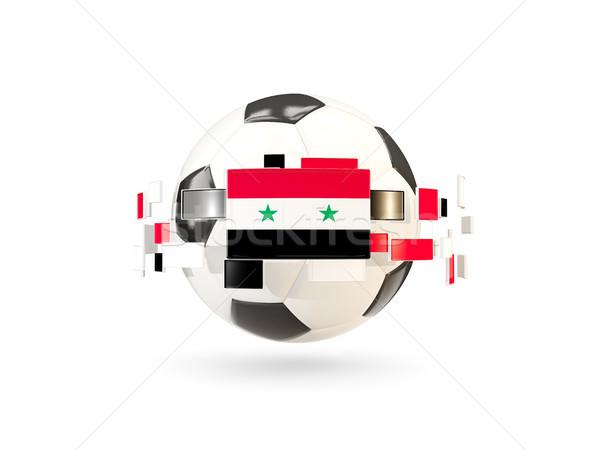 Voetbal lijn vlaggen vlag Syrië Stockfoto © MikhailMishchenko