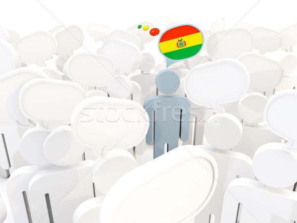 Férfi zászló Bolívia tömeg 3d illusztráció megbeszélés Stock fotó © MikhailMishchenko