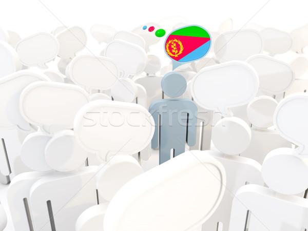 человека флаг Эритрея толпа 3d иллюстрации знак Сток-фото © MikhailMishchenko