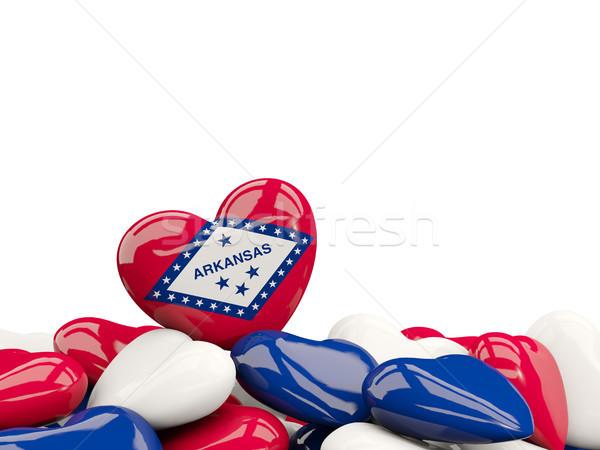 Szív alakú Arkansas zászló Egyesült Államok helyi Stock fotó © MikhailMishchenko