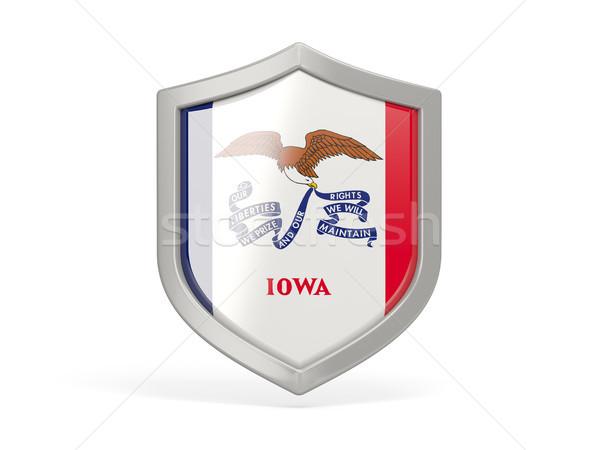 щит икона флаг Айова Соединенные Штаты местный Сток-фото © MikhailMishchenko