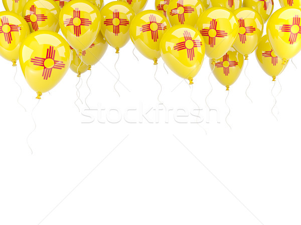 Balloons frame with flag of new mexico. United states local flag Stock photo © MikhailMishchenko